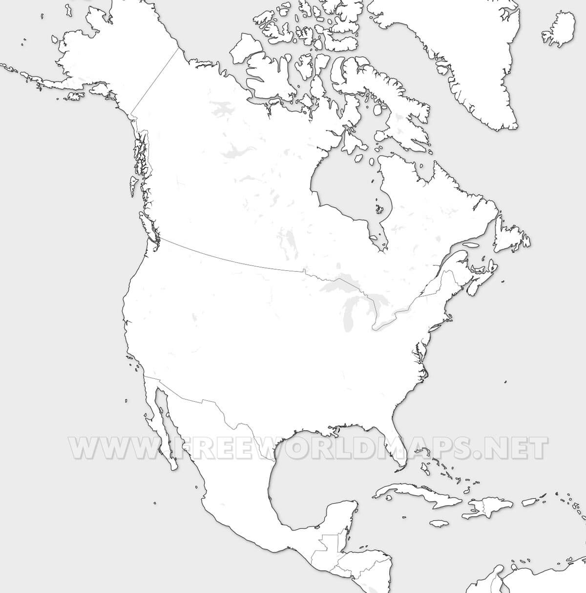 America Del Norte Mapa Fisico Mudo.Mapa Politico De Norteamerica