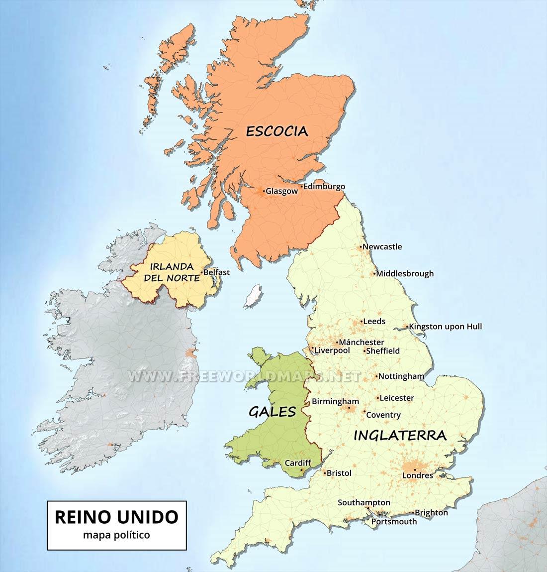 Mapas Del Reino Unido