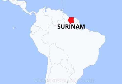 Mapa Fisico De Surinam Geografia De Surinam