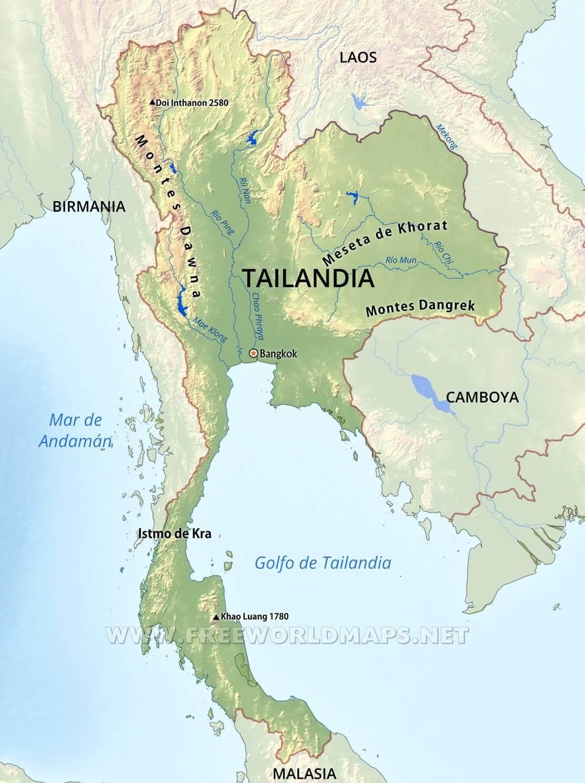 Mapa De Tailandia Y Bandera Ilustracion Vectorial Ilustraciones