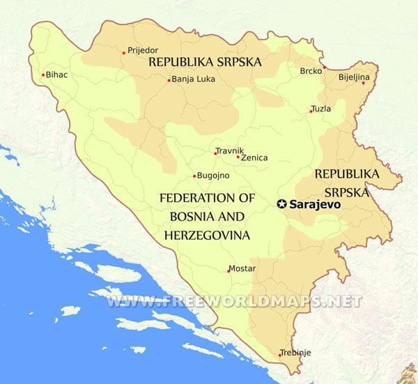 Bosnia Political Map
