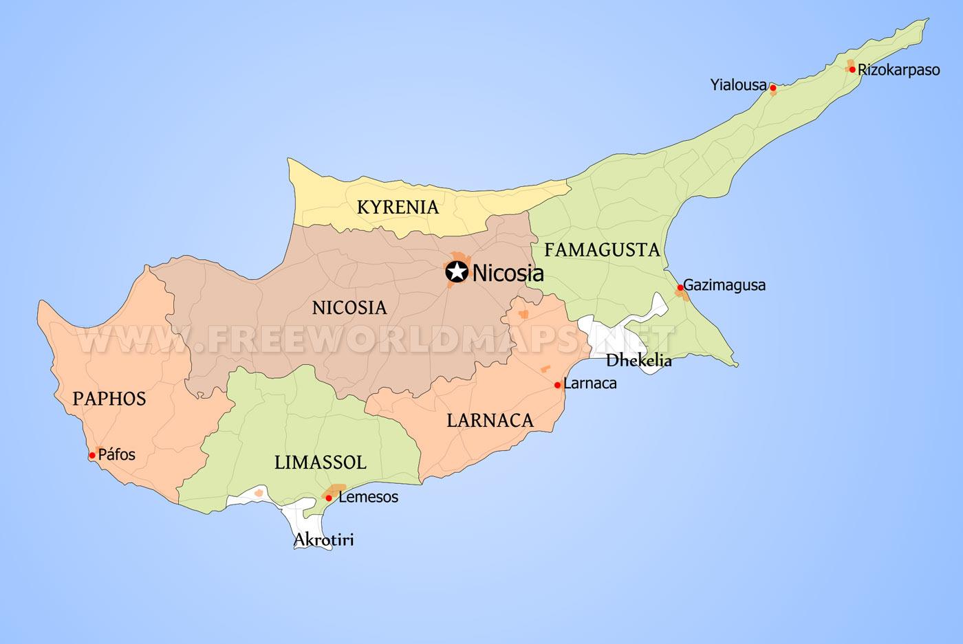 Cyprus Maps - by Freeworldmaps.net