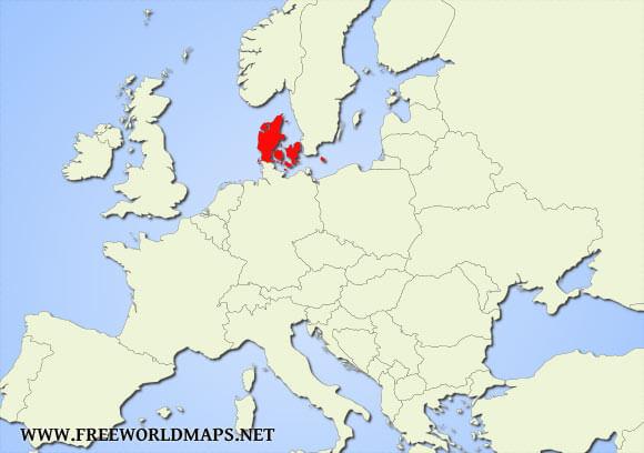 Denmark On World Map Where is Denmark located on the World map? Denmark On World Map