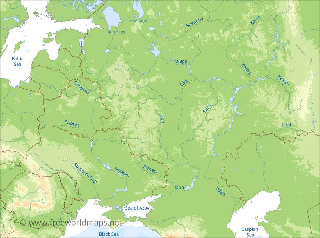 Picture of: Eastern Europe Physical Map