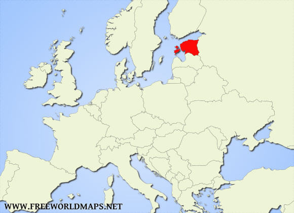 Where is Estonia located on the World map?