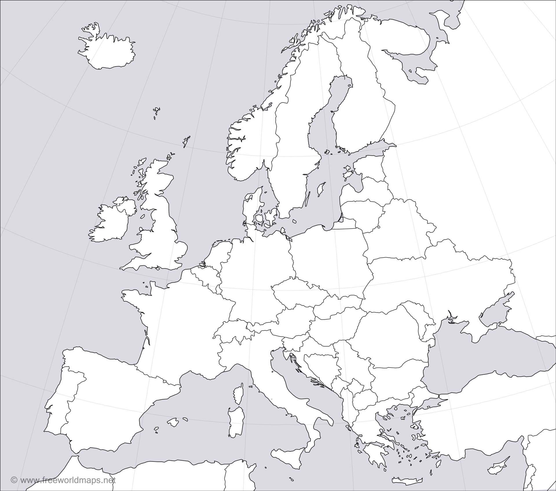 photo relating to Printable Blank Map of Europe referred to as Europe Blank Map