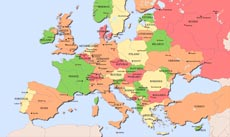 Cities and capitals of Europe