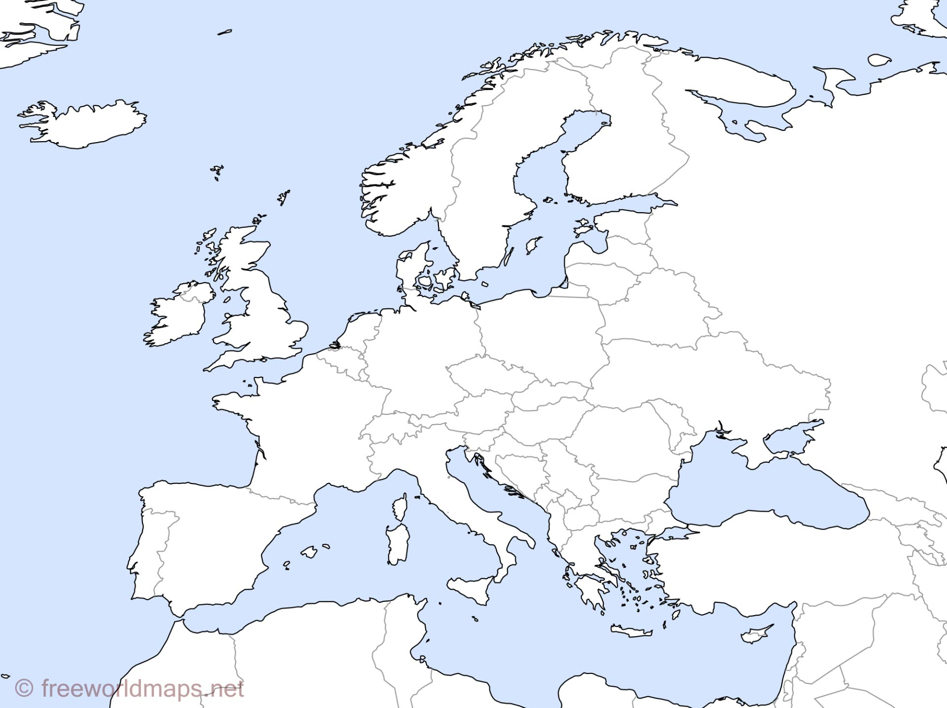 It is an image of Slobbery Printable Map of Europe