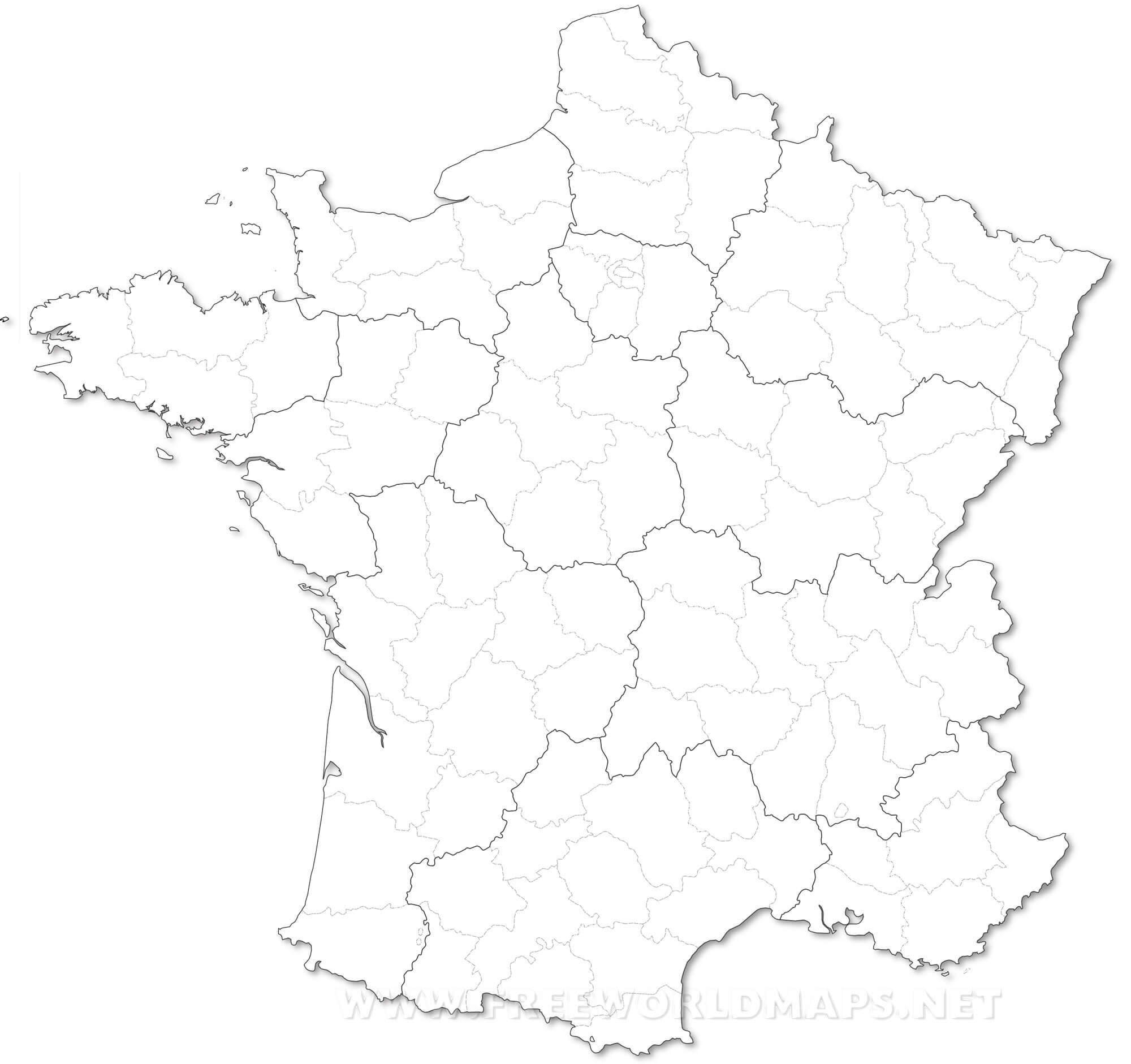Map Of France Drawing.France Political Map