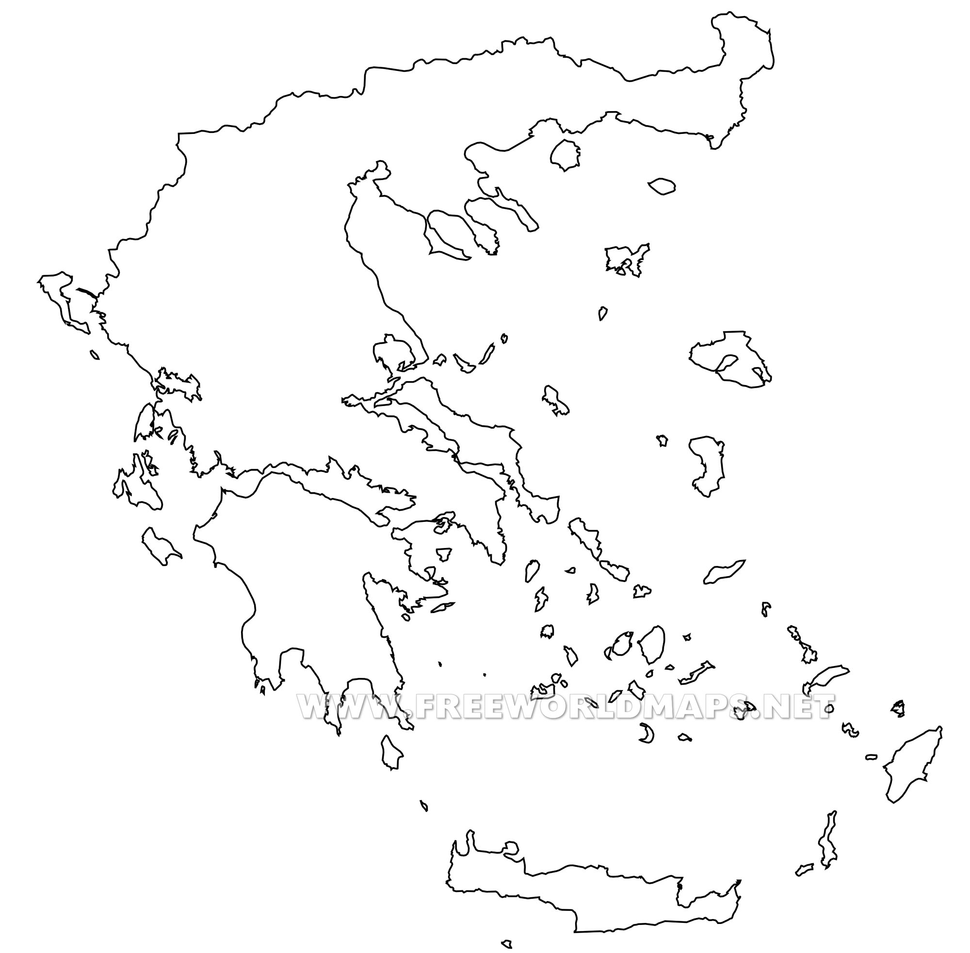 Blank Map Of Greece Greece Political Map