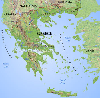 Greece Maps - by Freeworldmaps.net on