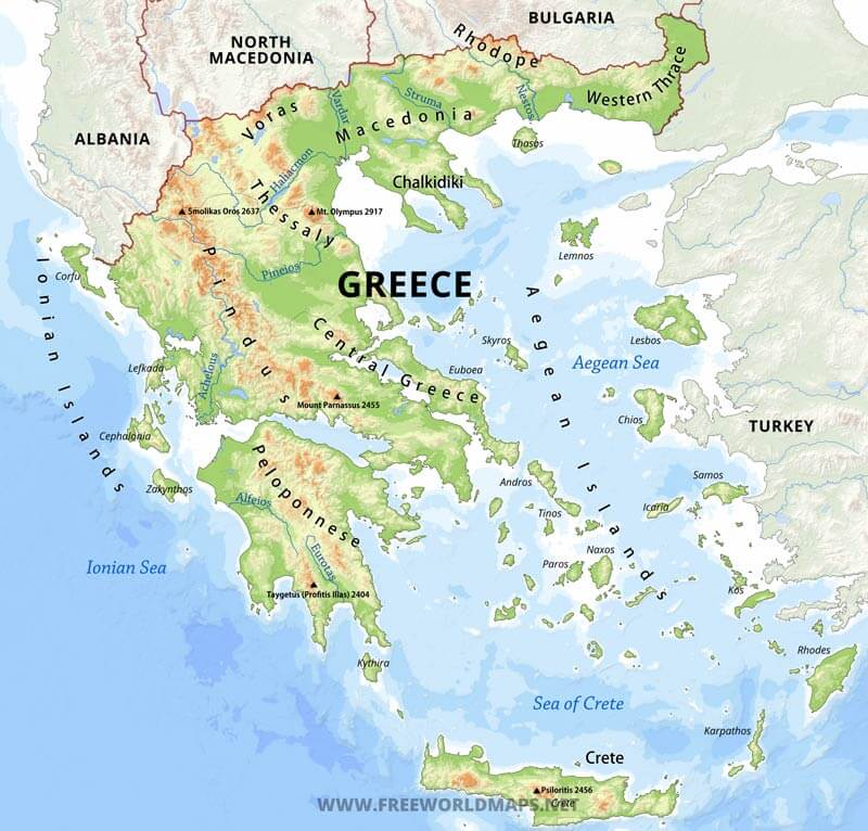 This is a photo of Enterprising Ancient Greece Map Labeled