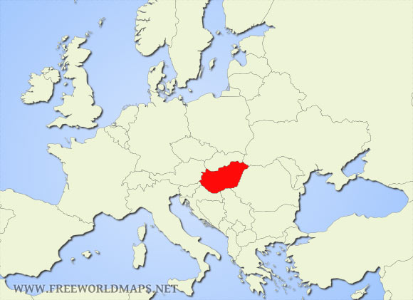 Where is Hungary located on the World map?