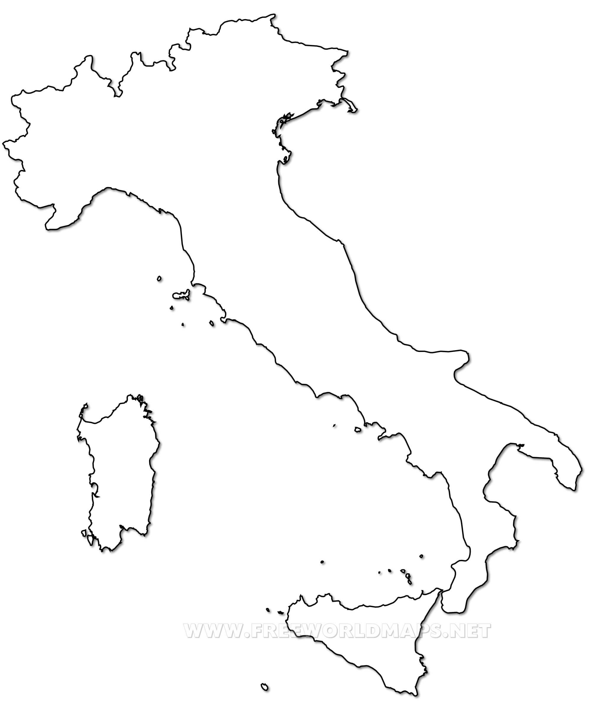 Blank Map Of Italy Italy Political Map Blank Map Of Italy