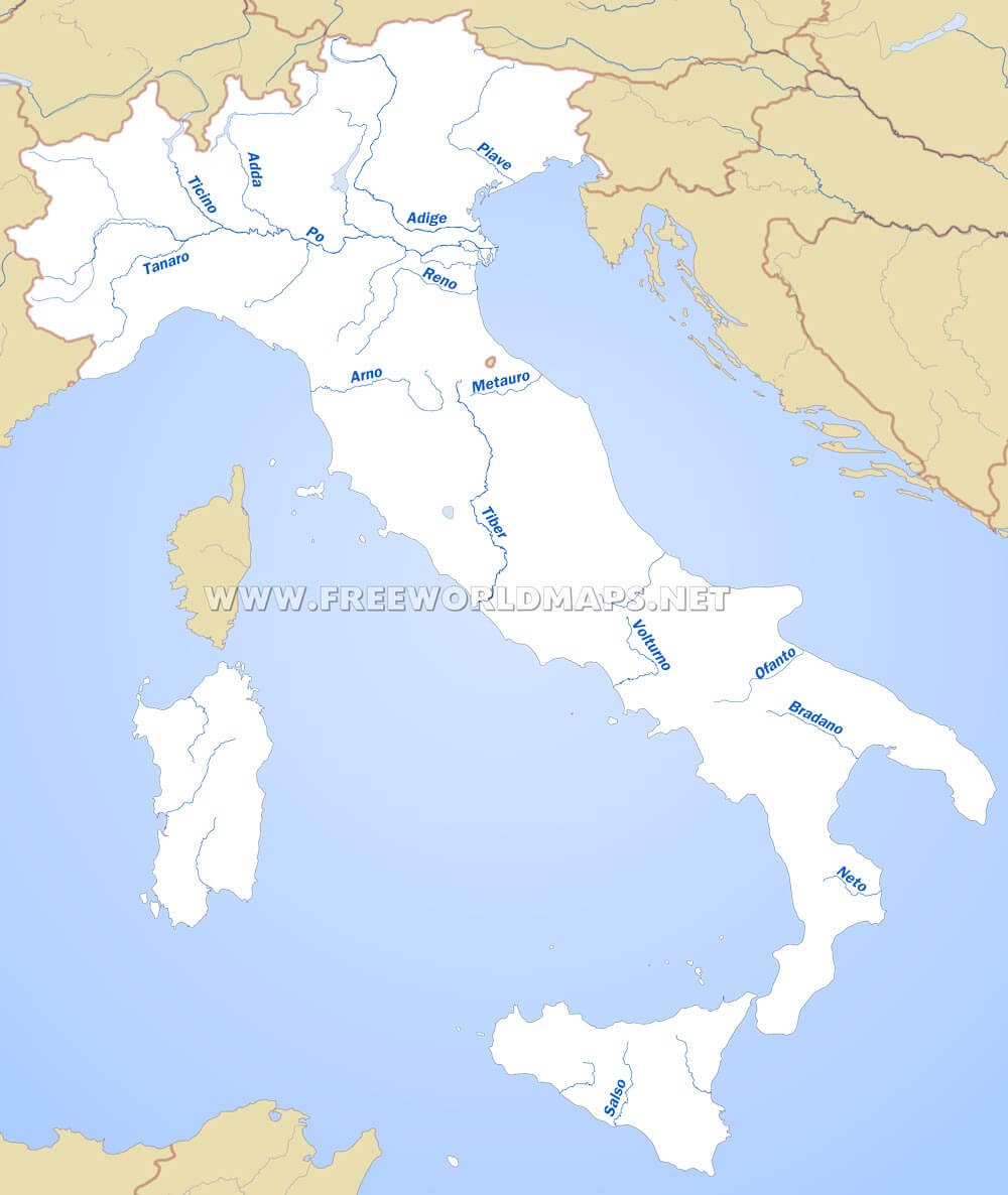 Italy On Map Of World.Italy Physical Map