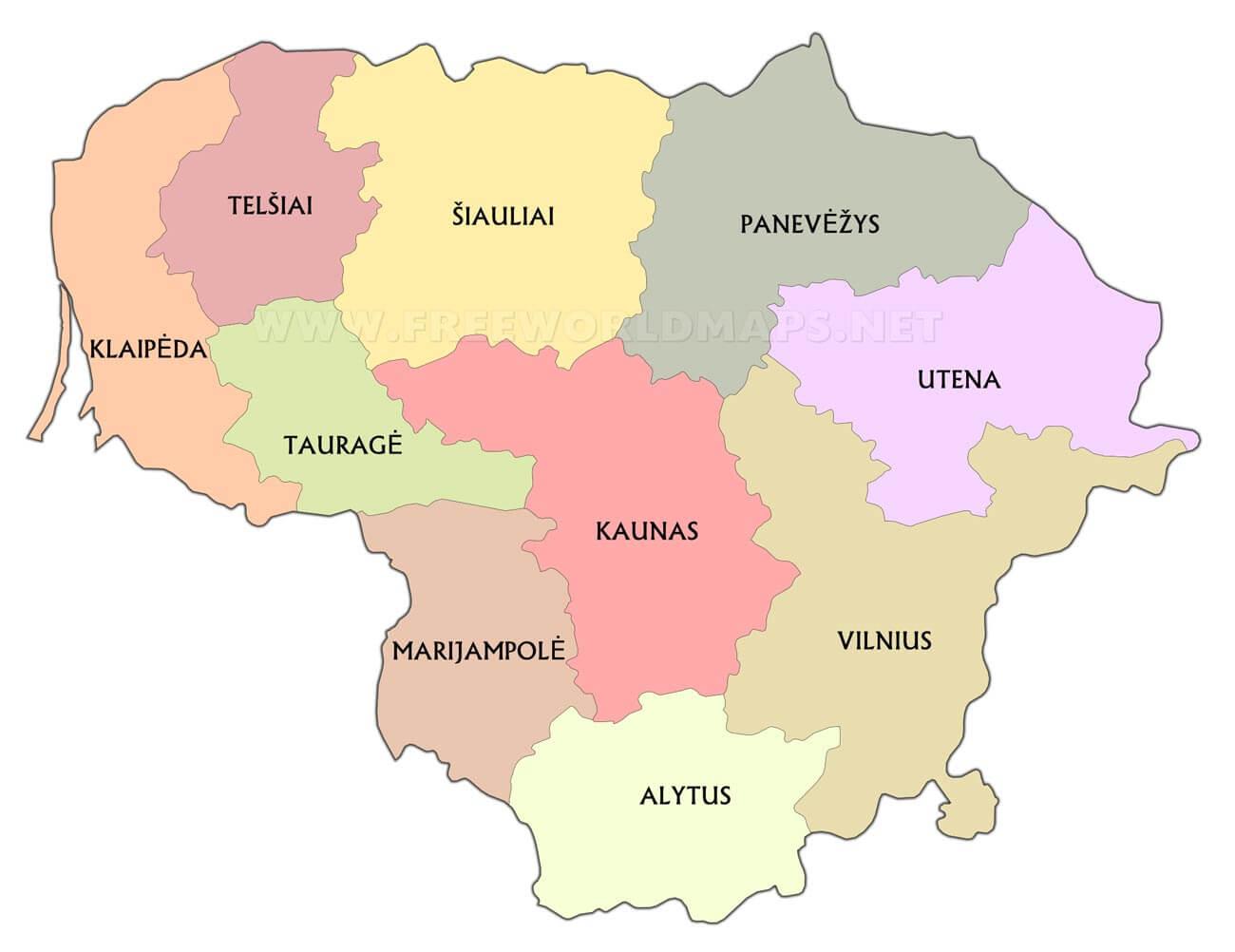 lithuania maps