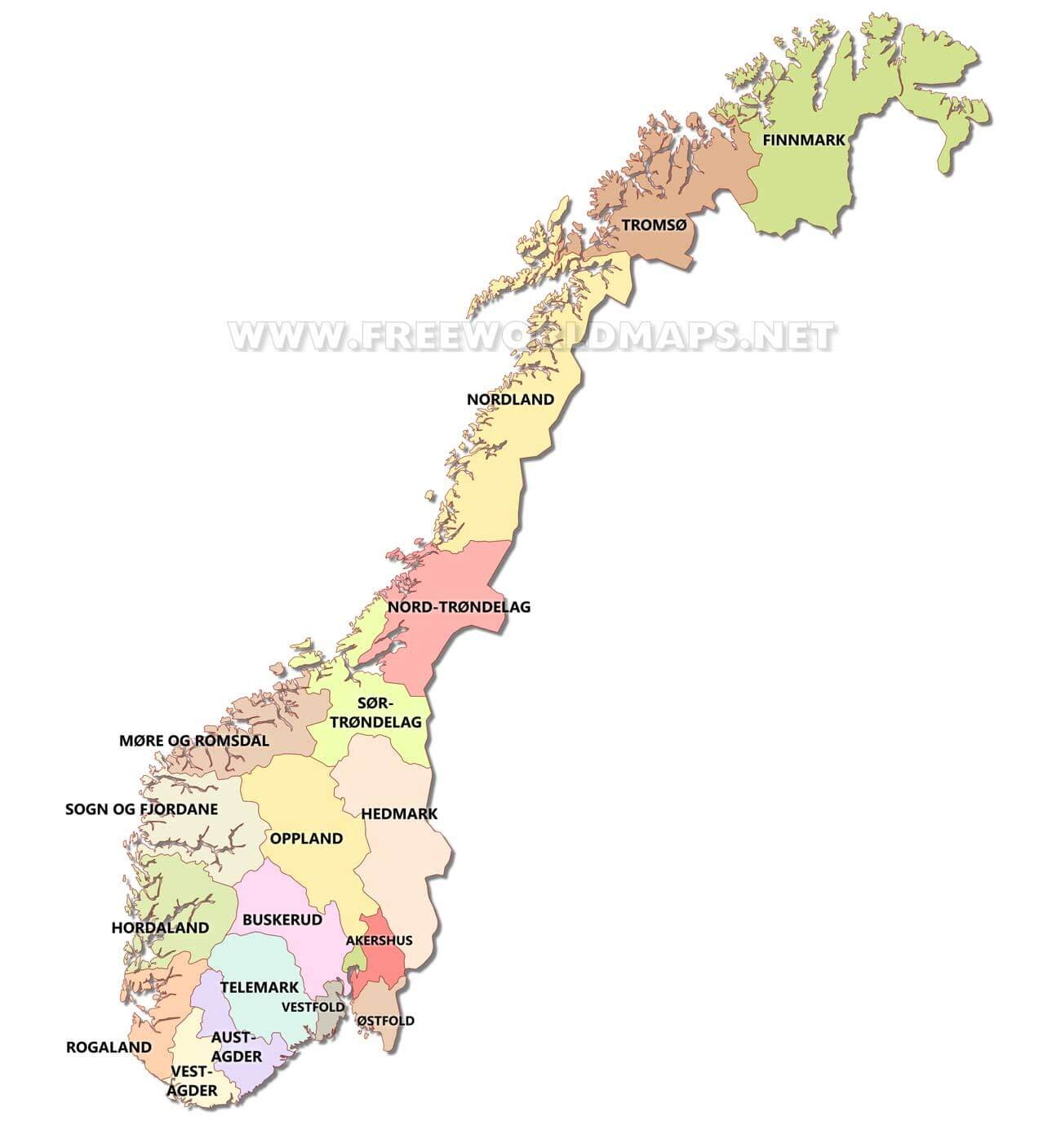 Norway Political Map
