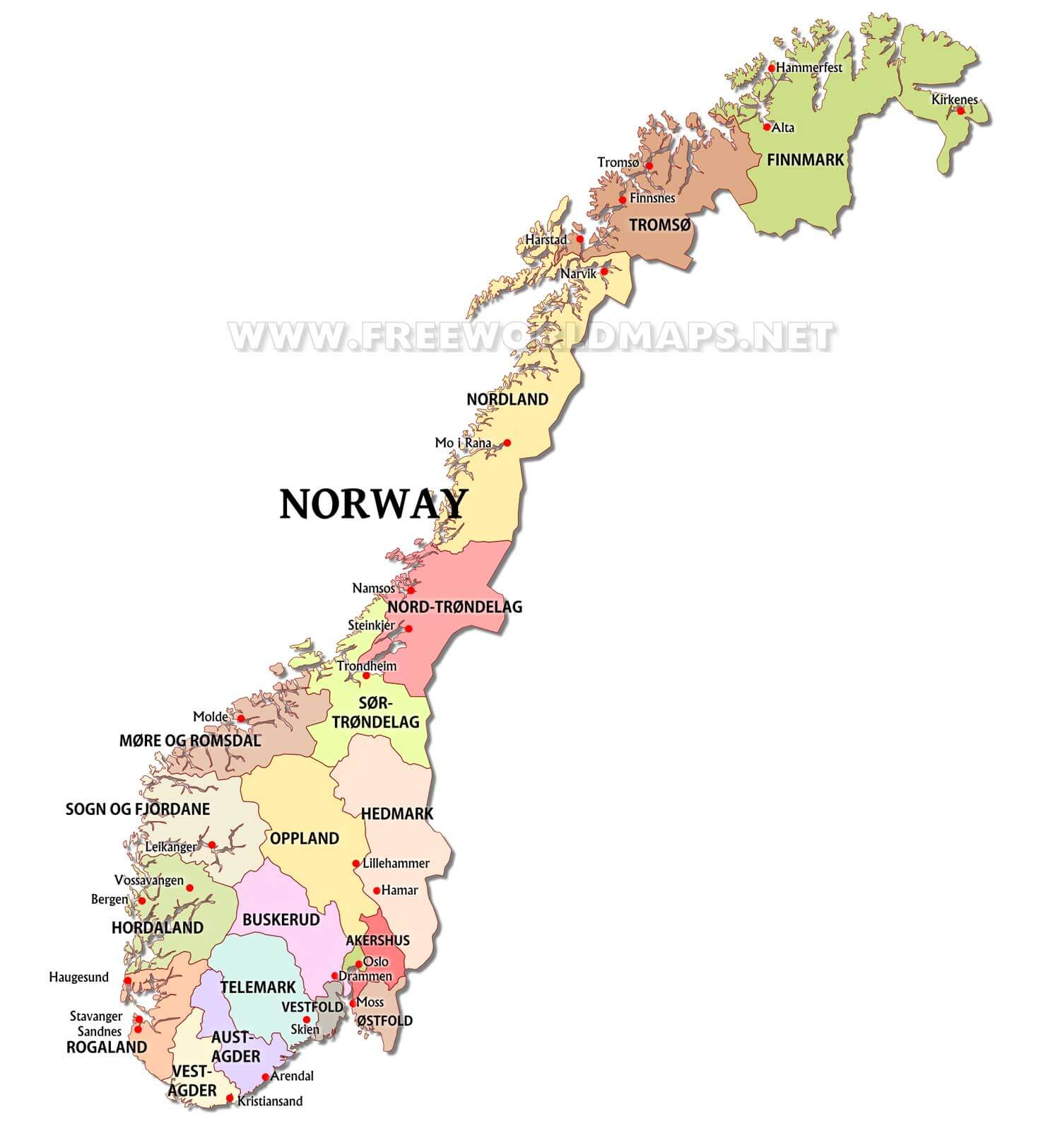norway maps