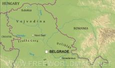 Where is Serbia located on the World map?