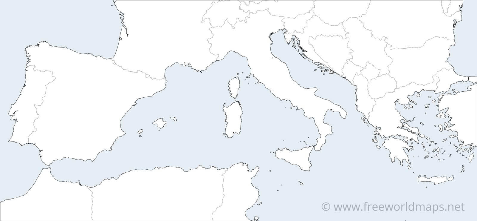 southern europe blank map Southern Europe Maps By Freeworldmaps Net southern europe blank map