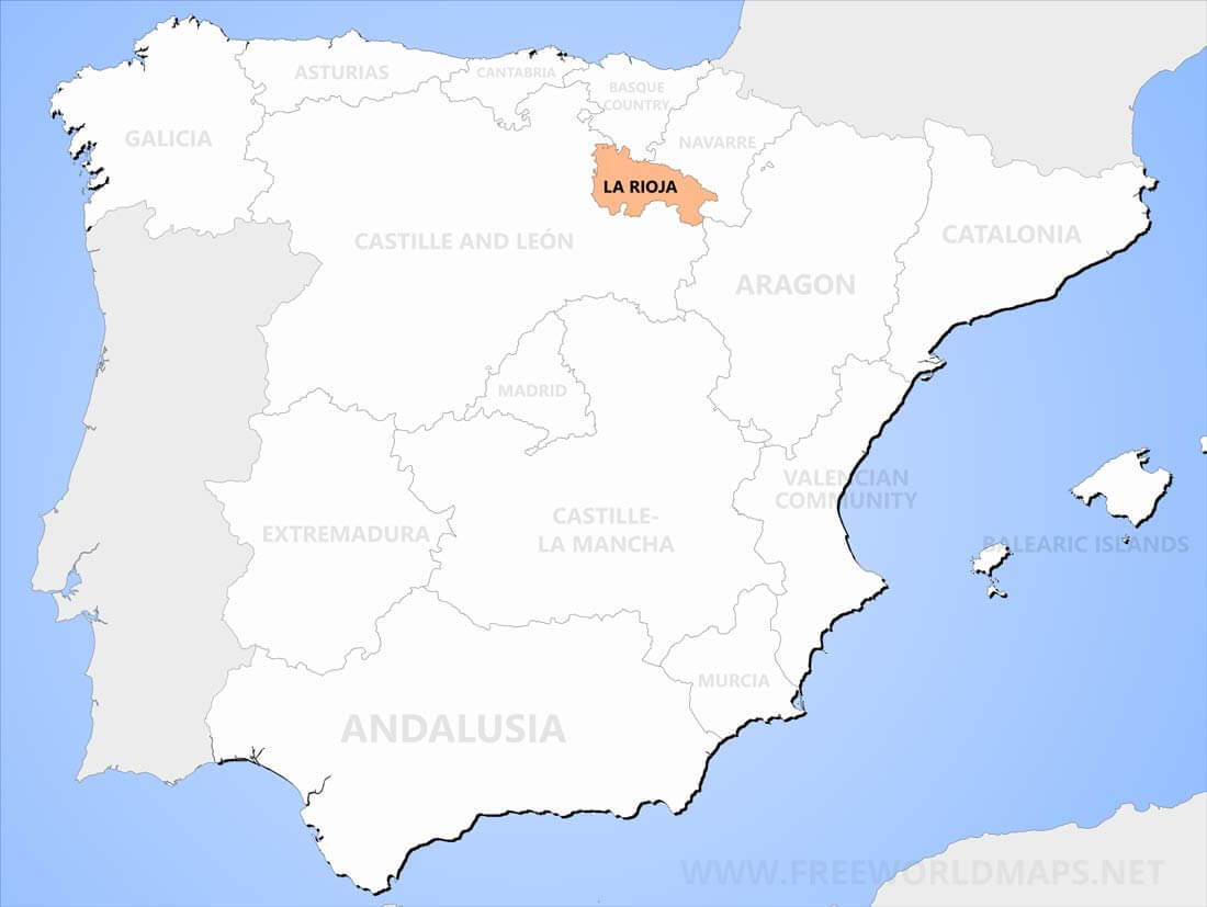Map Of Spain Rioja.La Rioja Maps
