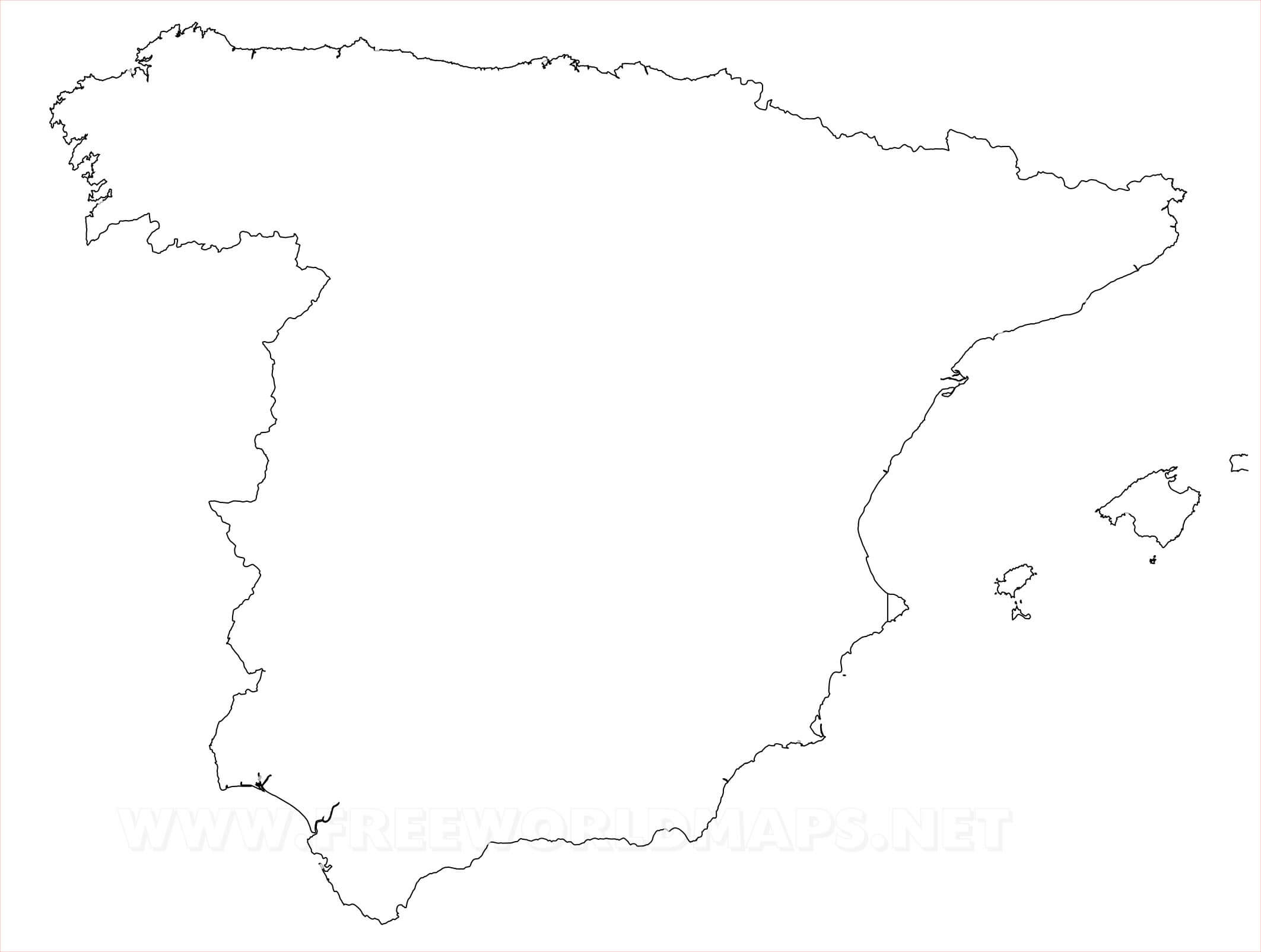 Blank Map Of Spain Spain Political Map