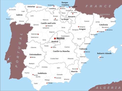 Small Map Of Spain.Spain Maps By Freeworldmaps Net