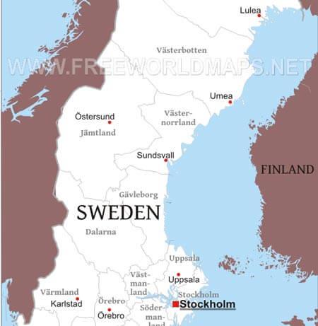Sweden Maps - by Freeworldmaps.net