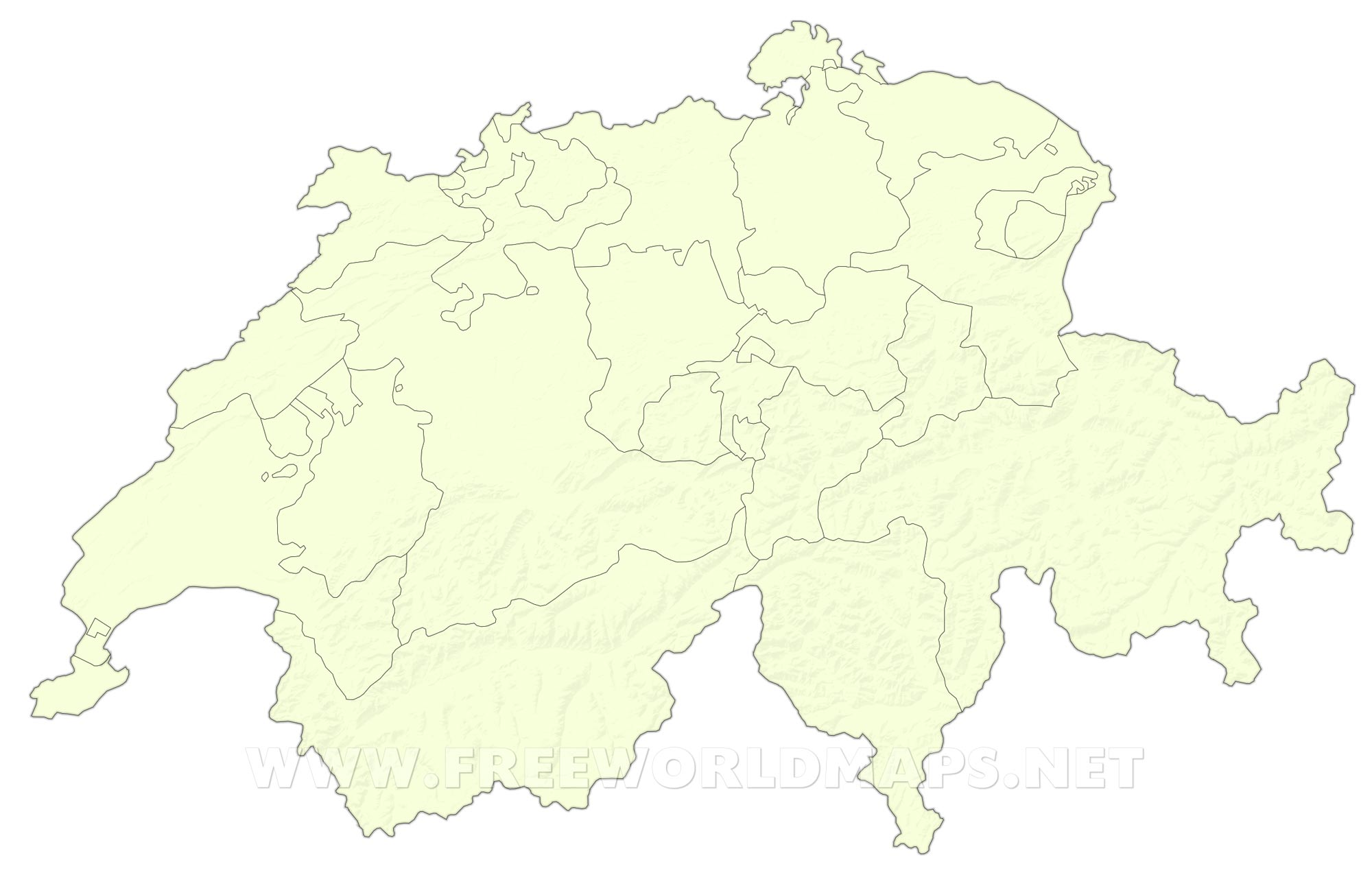 Switzerland Political Map