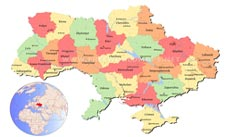 Where is Ukraine located on the World map?