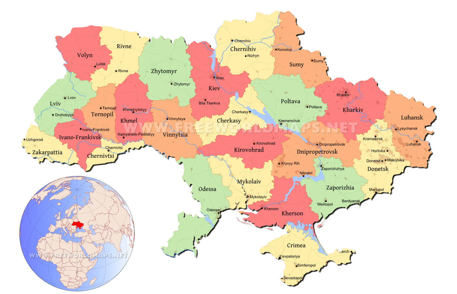 Picture of: Ukraine Political Map