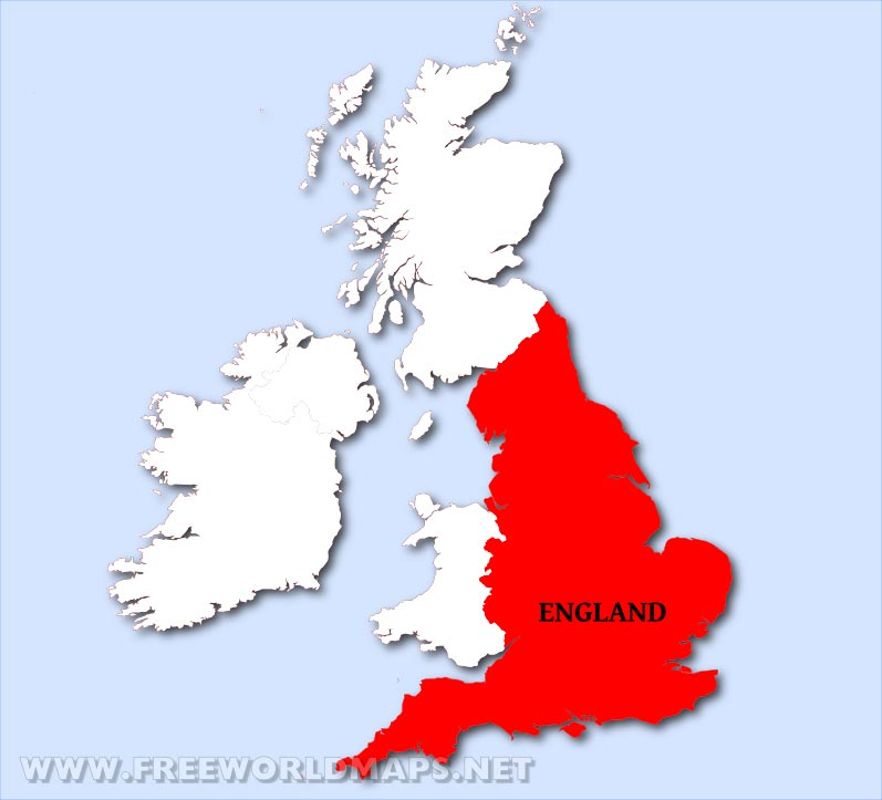 England Maps - by Freeworldmaps.net