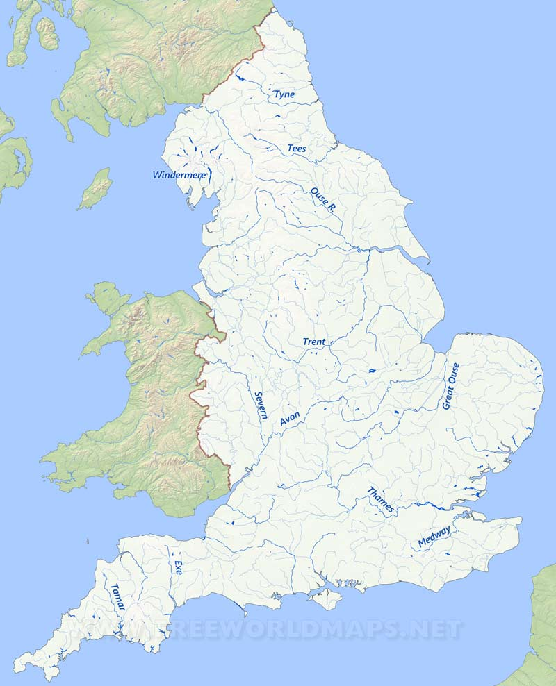 England On Map Of World.England Physical Map