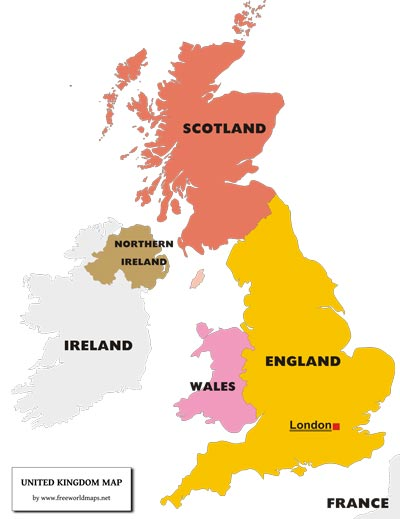graphic relating to Printable Map of Uk and Ireland named United Kingdom PDF Map