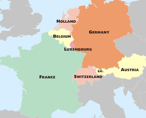 picture about Printable Map of Western Europe titled Western Europe PDF Map