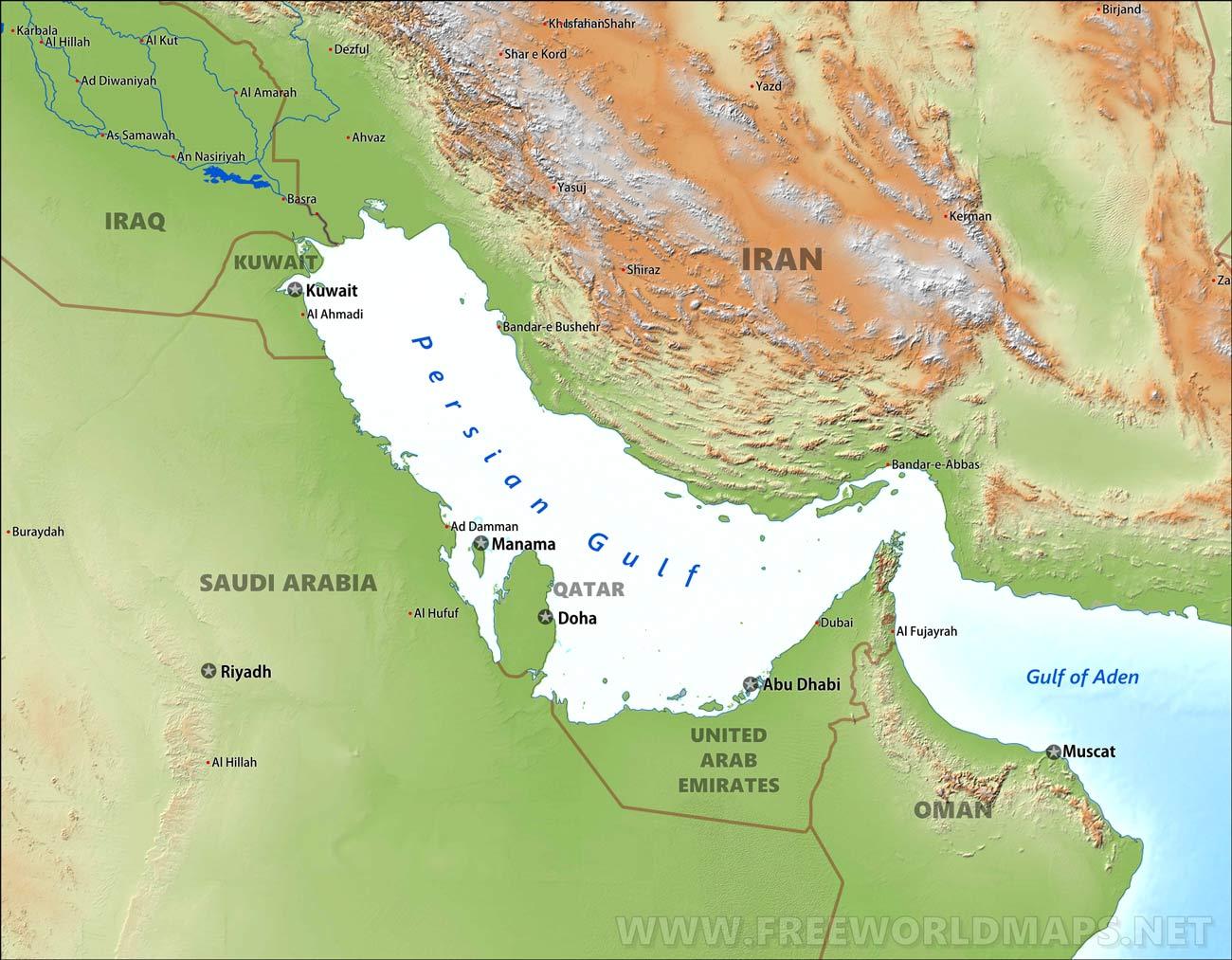 Persian Gulf Maps