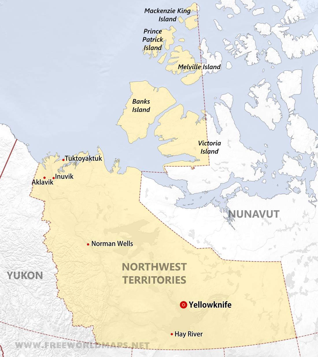 Northwest Territories Maps