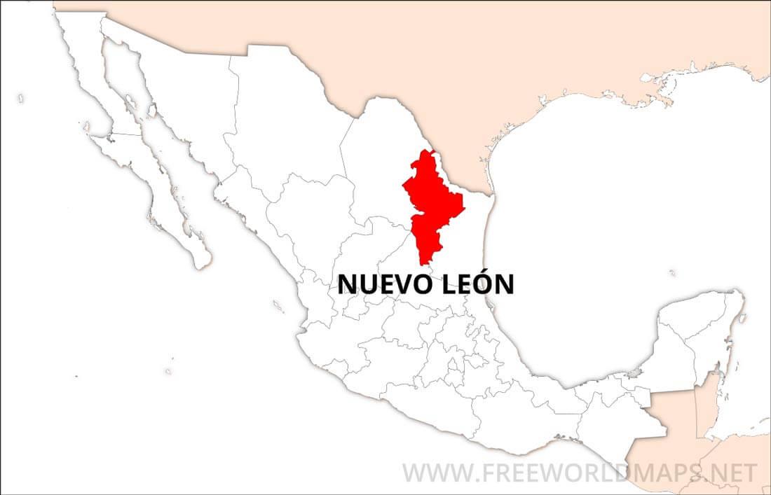 Nuevo Leon Mexico Map Nuevo León Map