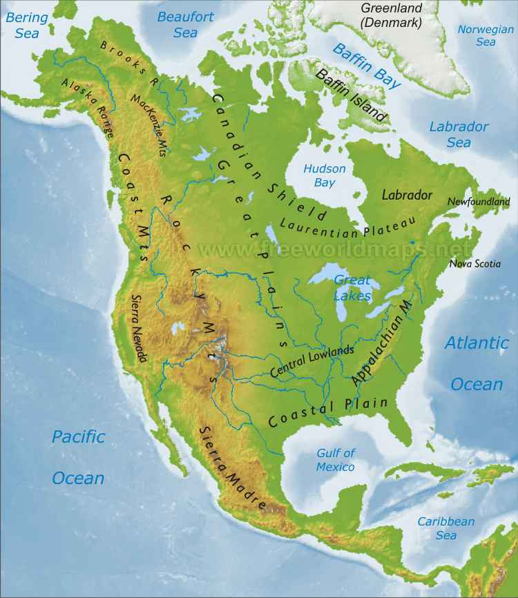 Physical Map Of Us And Canada Trends Celebrity Style: physical map of usa and canada