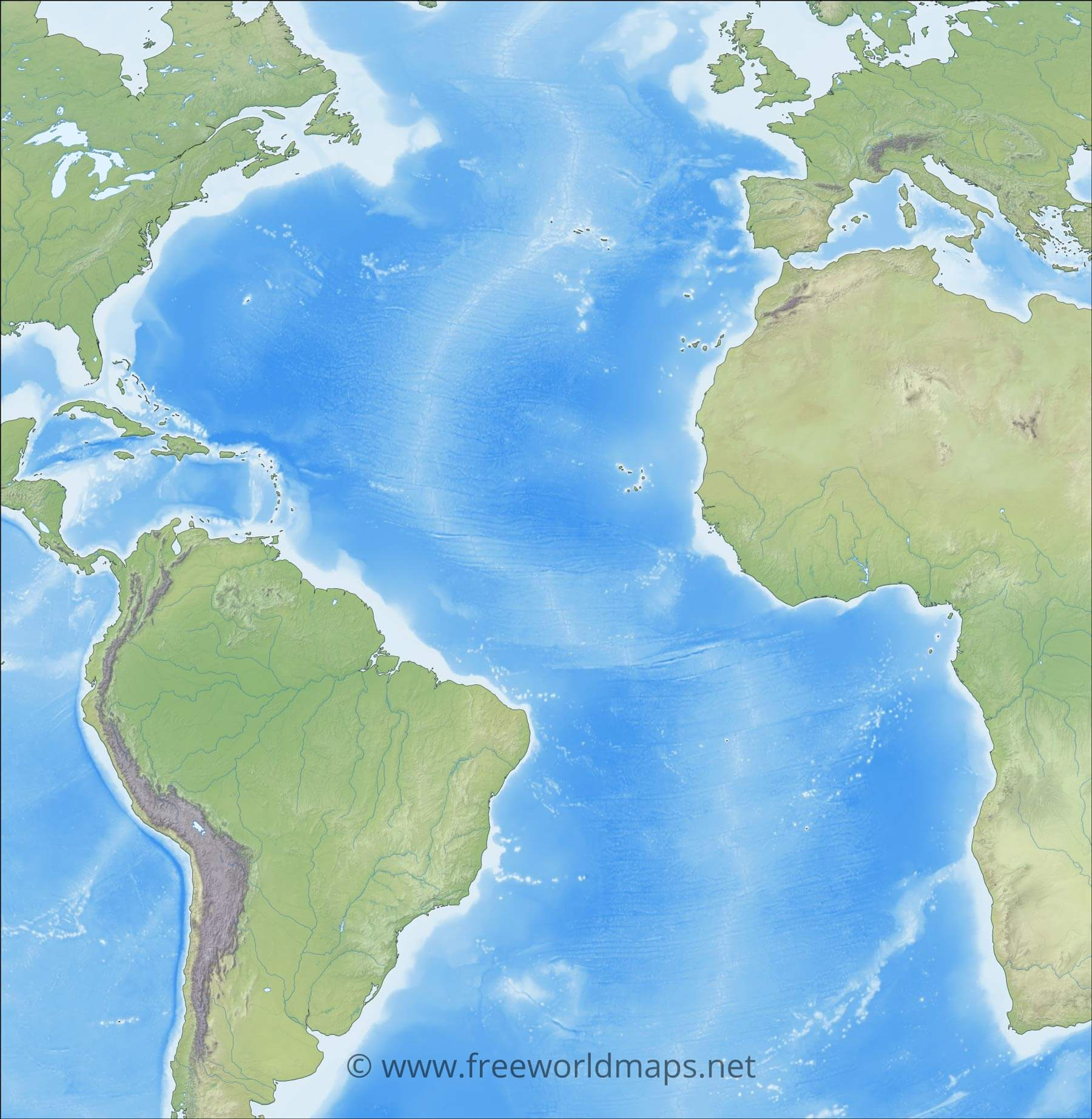 Picture of: Atlantic Ocean Maps And Geography And Physical Features