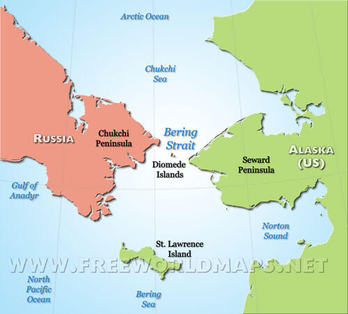 Bering Strait Map