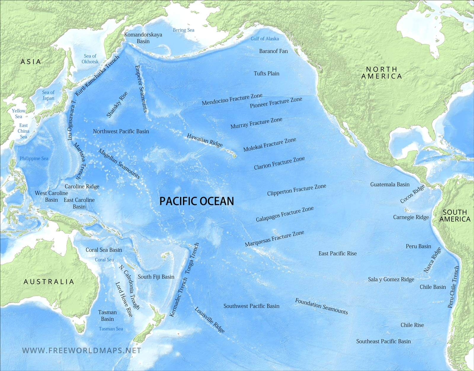 eastern pacific ocean map Maps Of The Pacific Ocean eastern pacific ocean map
