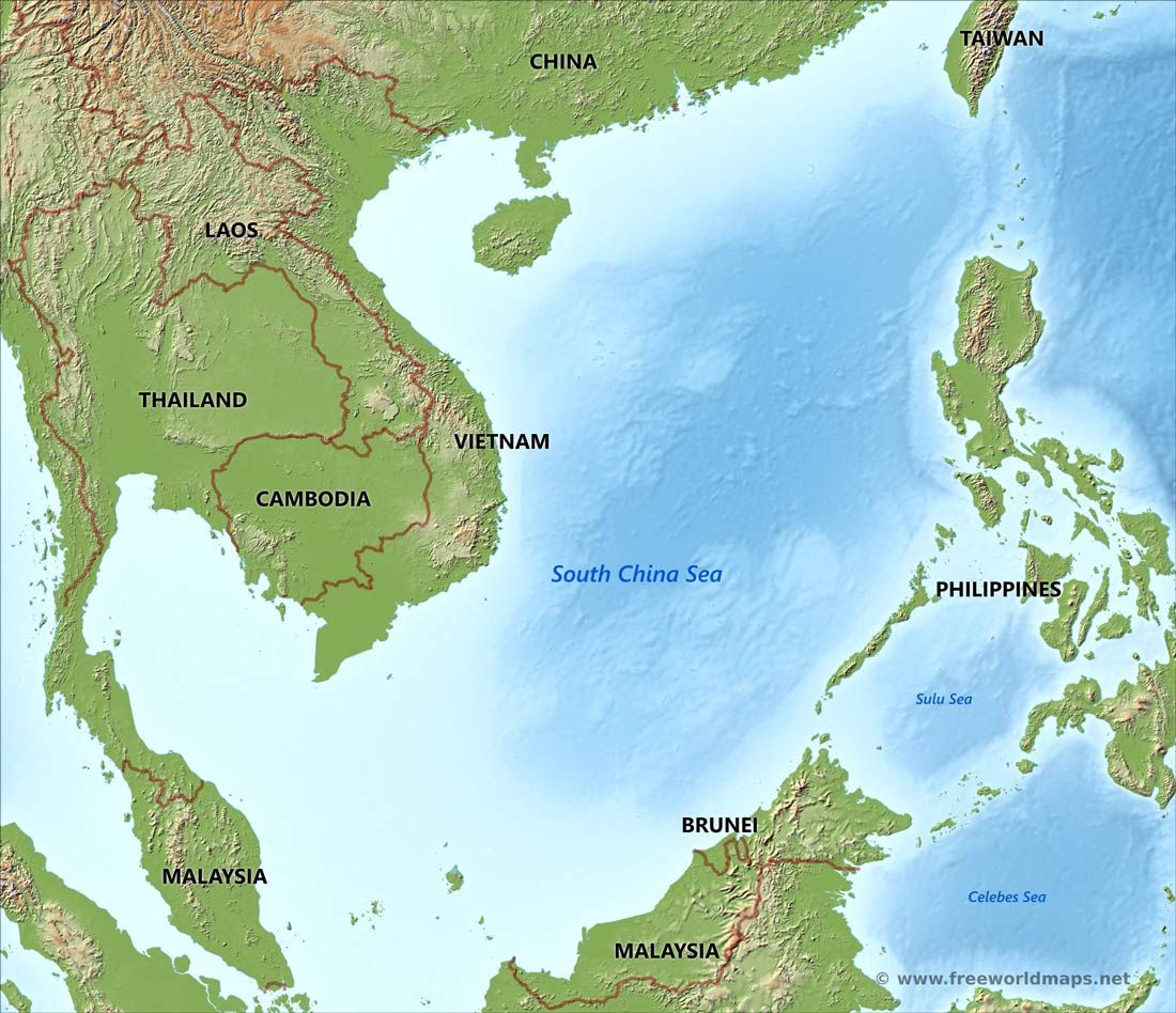 map of china sea South China Sea Map By Freeworldmaps Net map of china sea