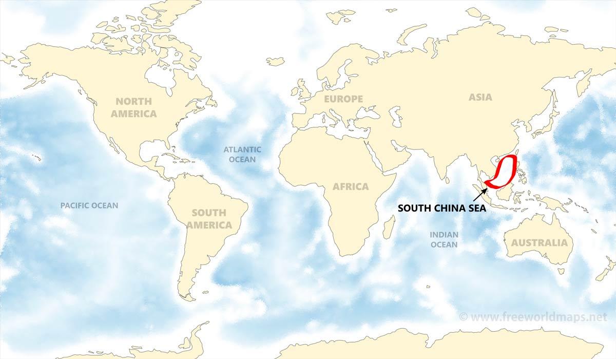 South China Sea map - by Freeworldmaps.net on