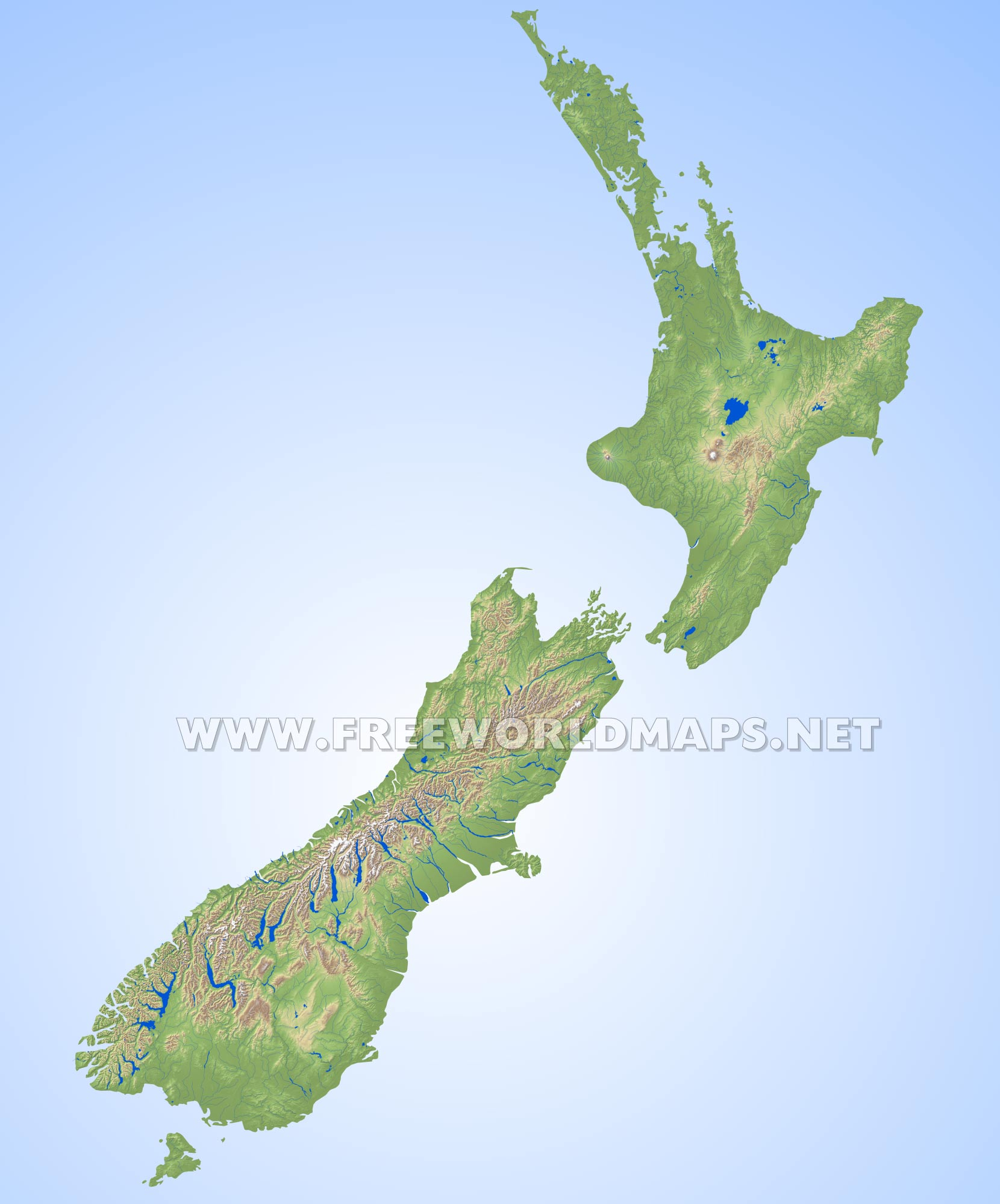 Where Is New Zealand In World Map.New Zealand Physical Map