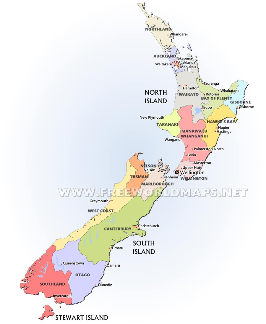 Map Of New Zealand North Island.New Zealand Maps By Freeworldmaps Net