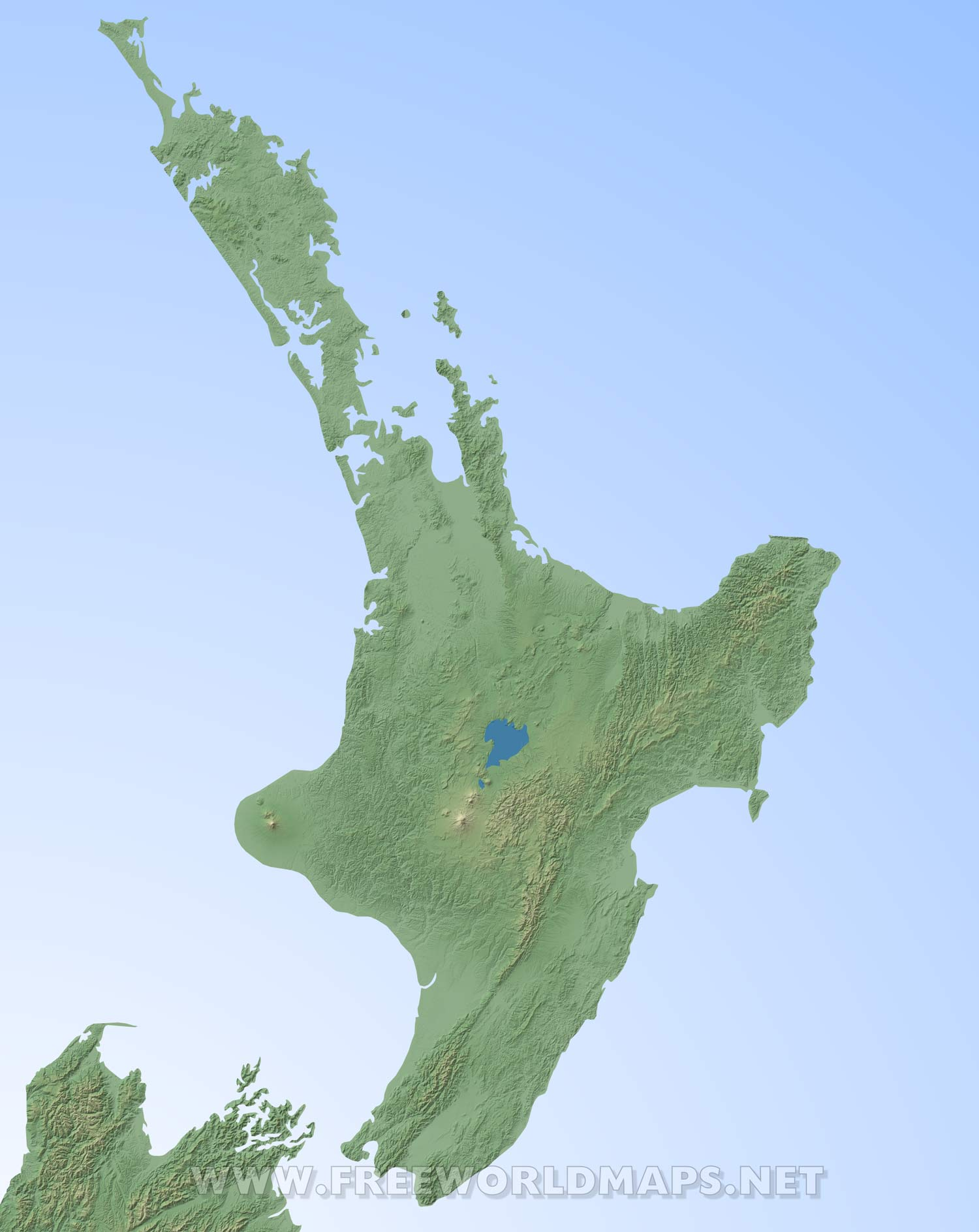 Map North Island Of New Zealand.Physical Map Of New Zealand North Island