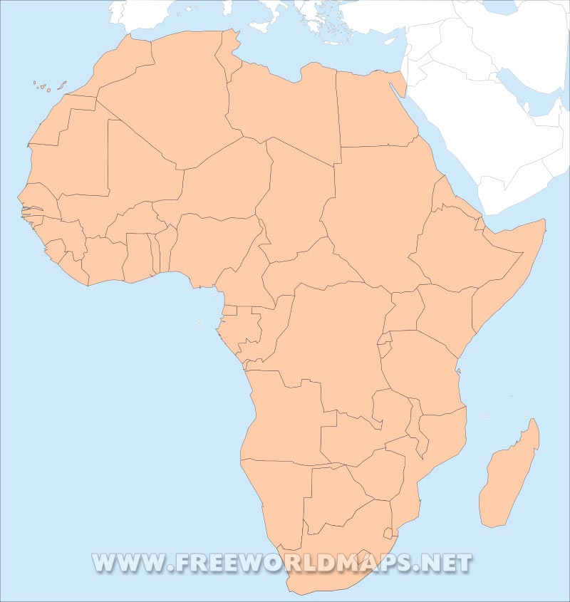 Africa Map Blank Pdf.Free Pdf Maps Of Africa