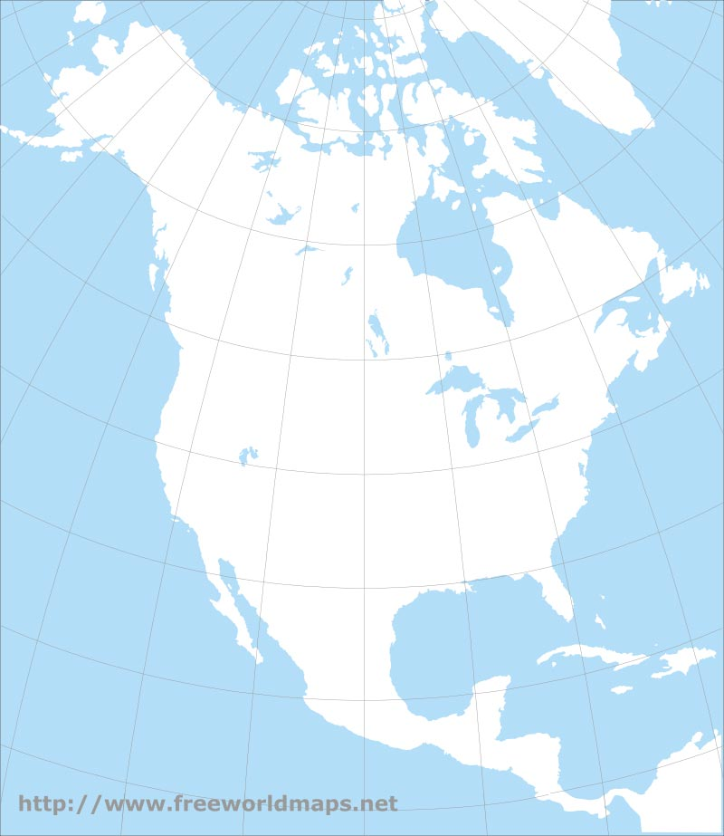 Free PDF maps of North America