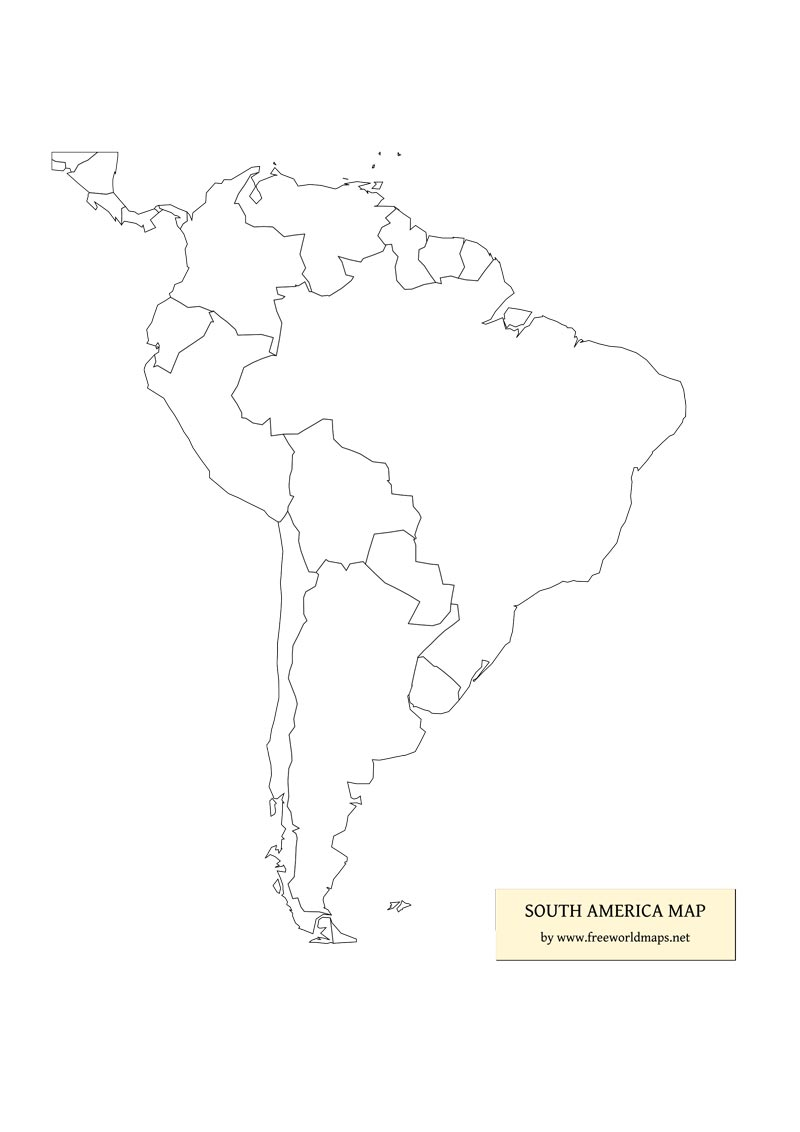 blank map south america printable Free Pdf Maps Of South America blank map south america printable
